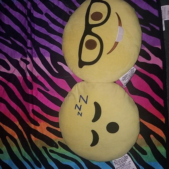 Sleepy Emoji Pillow and Nerd Emoji pillow